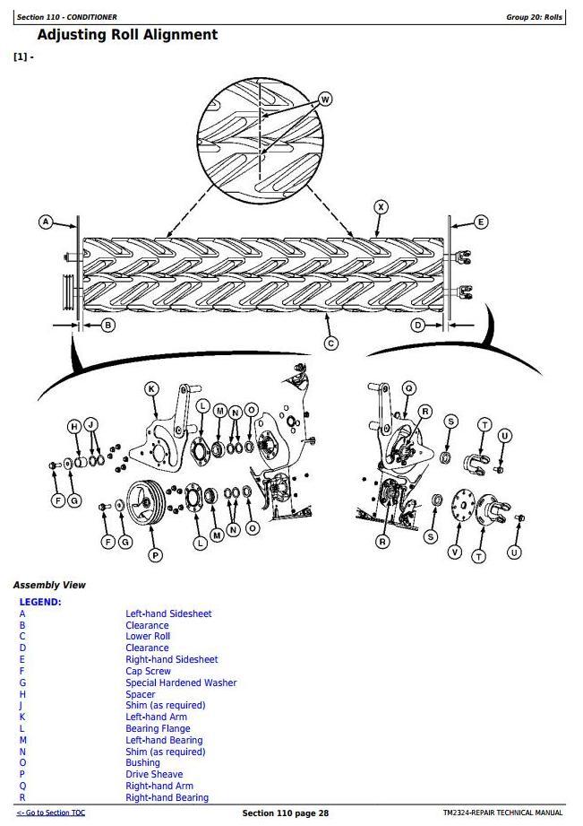 John Deere 525, 530, 535, 730, 735 Mower Conditioners