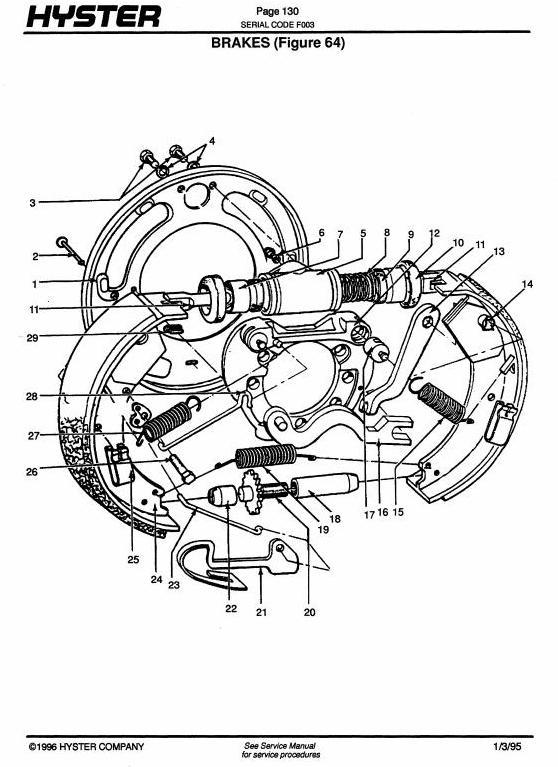 Hyster H40J, H50J, H60JS (H2.00J, H2.50J,H3.00JS) Diesel
