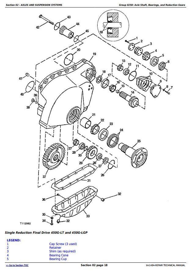 John Deere 450G, 550G, 650G Crawler Dozer; 455G, 555G
