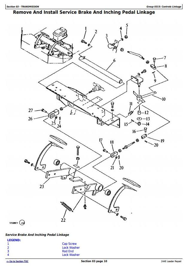 John Deere 244E 4WD Loader Service Repair Technical Manual