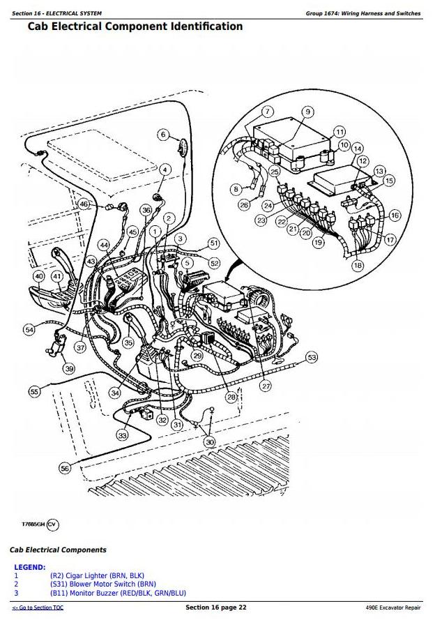 John Deere 490E Excavator Service Repair Technical Manual