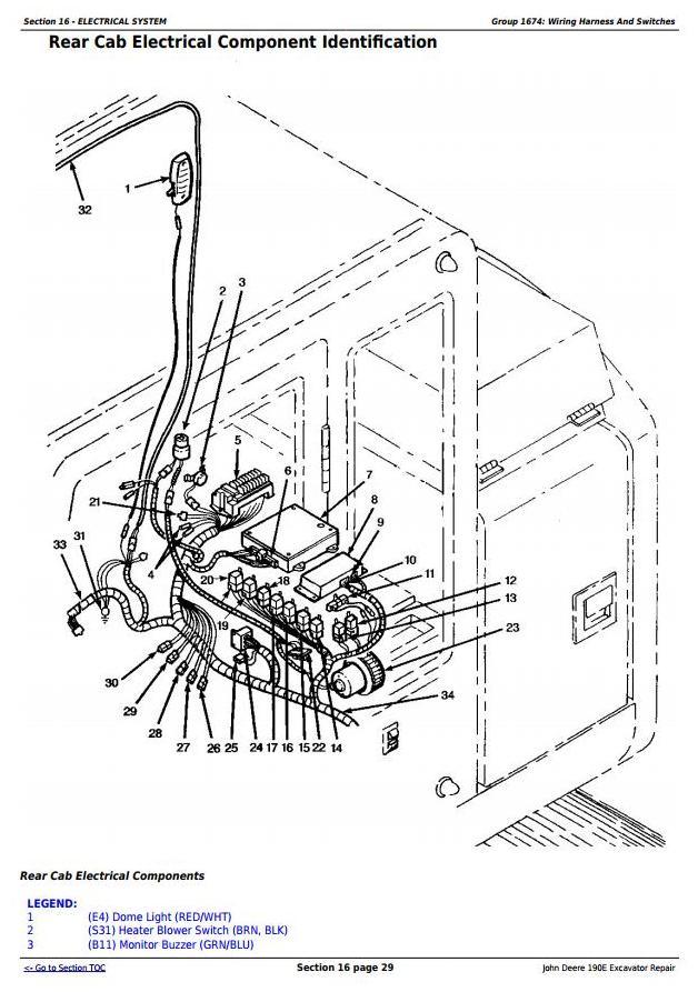 John Deere 190E Excavator Service Repair Technical Manual