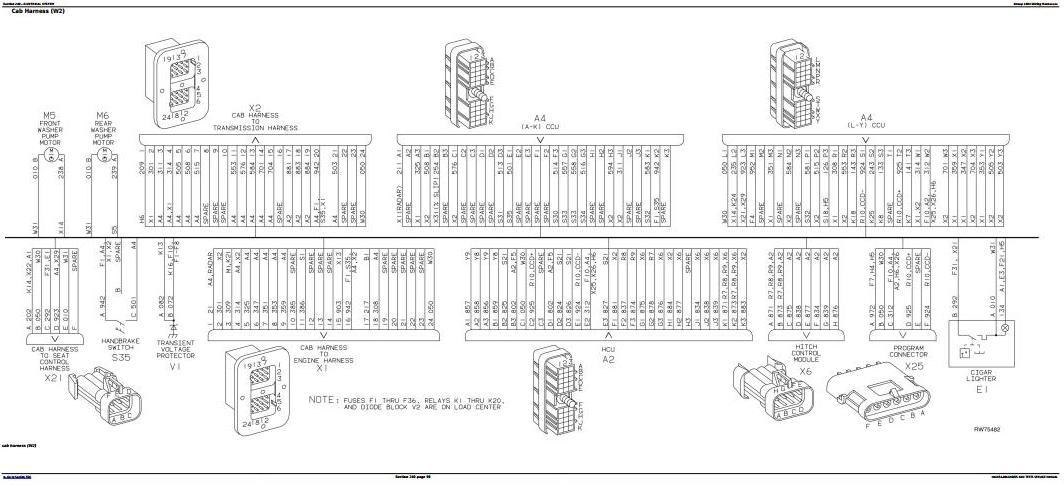 John Deere 7210, 7410, 7510 Tractors Diagnostic and Tests