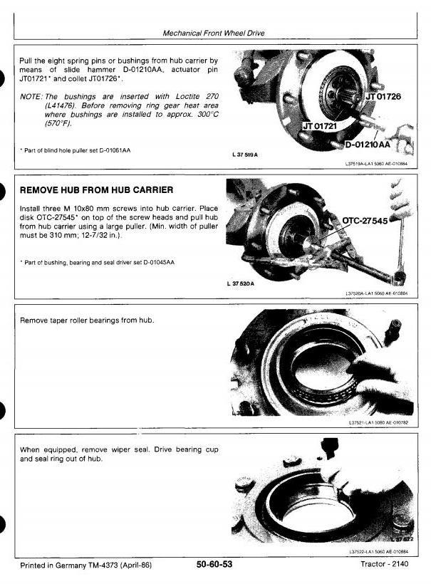 John Deere 2140 Tractors All Inclusive Technical Service