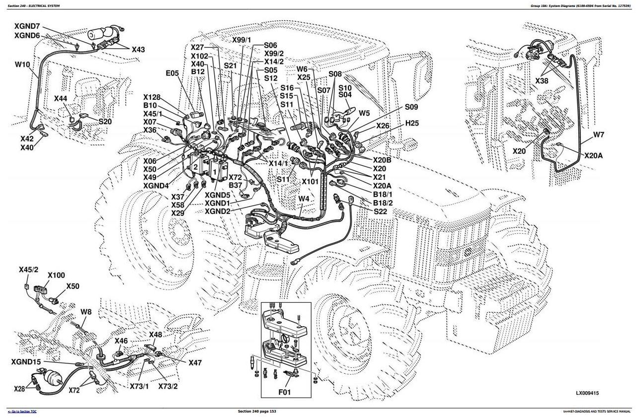 John Deere Tractors 6100, 6200, 6300, 6400, 6506, 6600