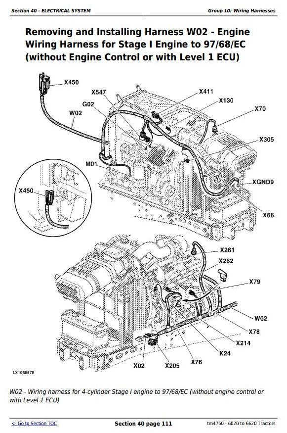 John Deere Tractors 6020, 6120, 6220, 6320, 6420, 6520