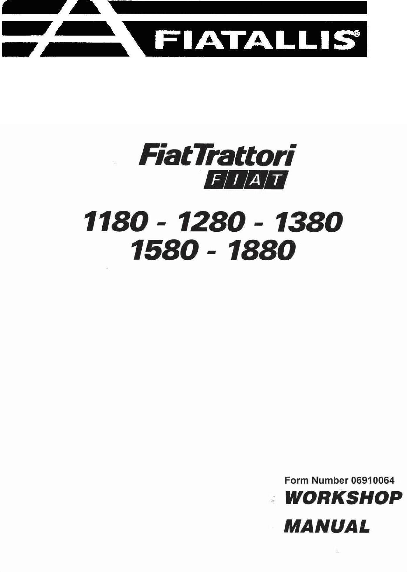 Fiat 1180, 1280, 1380, 1580, 1880 (DT) Tractor Service