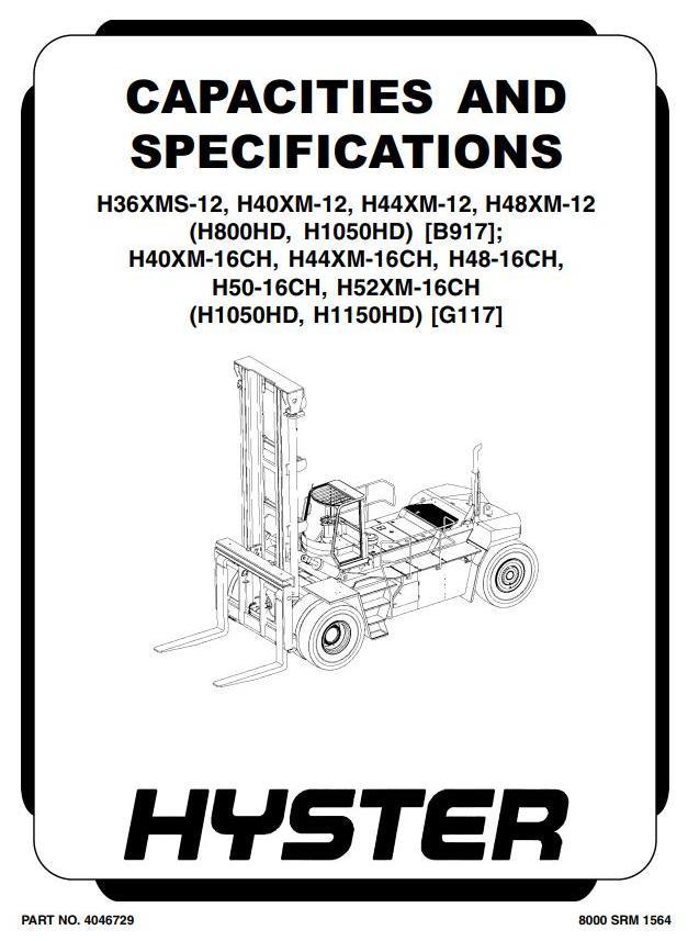 Hyster H36XMS-12, H40XM(S)-12, H44XM(S)-12, H48XM(S)-12