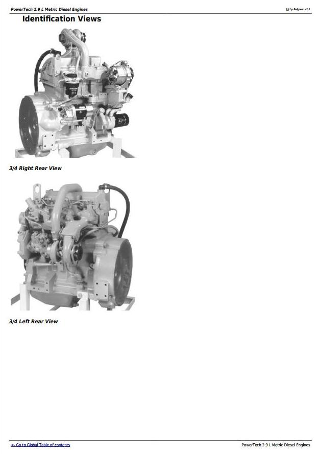 John Deere PowerTech 2.9L 3029 Metric Diesel Engine