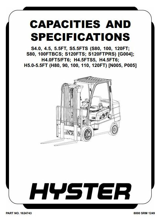 Hyster H80FT, H90FT, H100FT, H110FT, H120FT Forklift Truck