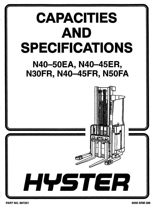 Hyster N40FR, N45FR, N50FA Electric Reach Truck D138