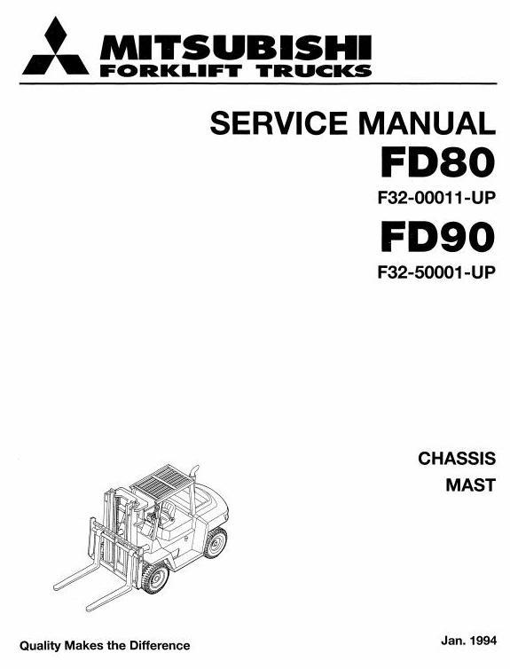 Mitsubishi FD80 (F32-00011-UP), FD90 (F32-50001-UP) Diesel