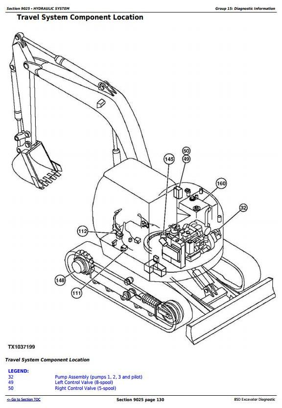 John Deere 85D Excavator Diagnostic, Operation and Test