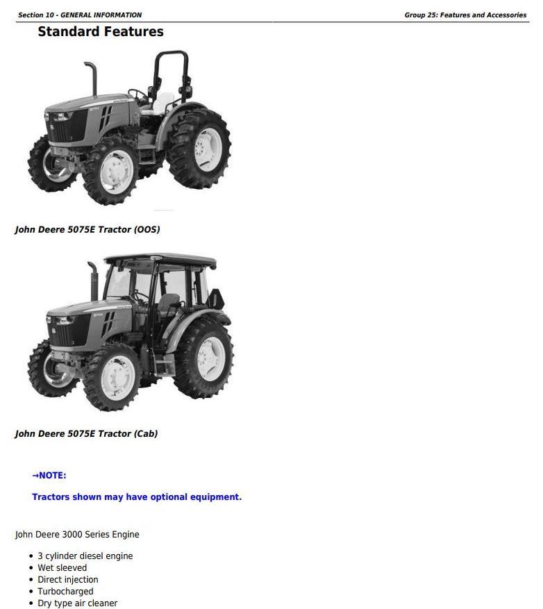 John Deere 5045E, 5055E, 5065E & 5075E (FT4) North America