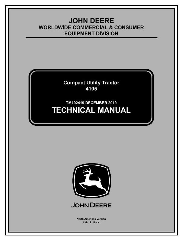 John Deere 4105 Compact Utility Tractors All Incliusive