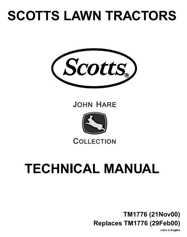 John Deere Scotts S1642, S1742, S2046, S2546 Limited