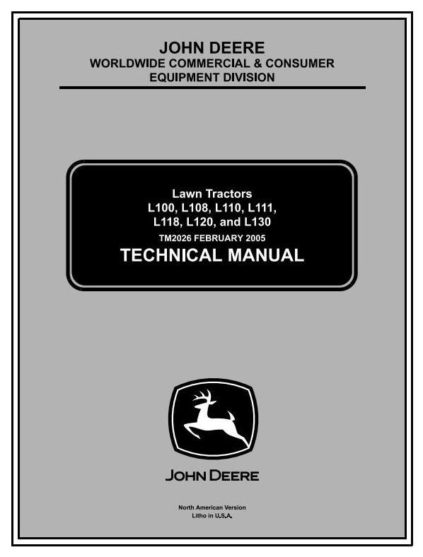 John Deere L100, L110, L120, L130, L118, L111 Lawn