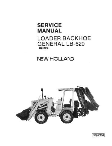New Holland LB620 Backhoe Loader Service Manual / Truck