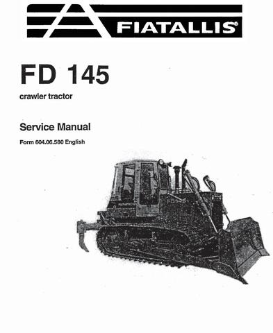 Fiat-Allis FD145 Crawler Tractor Service Manual / Truck