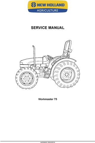 New Holland Workmaster 75, Workmaster 65 Tractor Complete