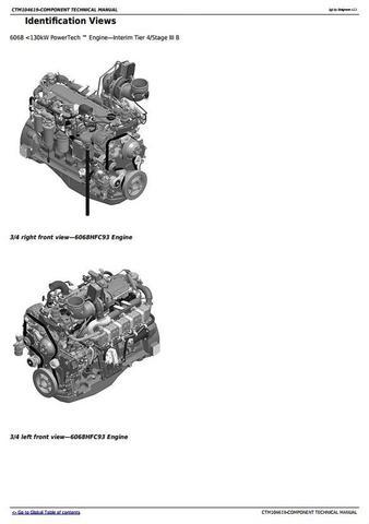 John Deere PowerTech 6068 Diesel Engine S.N.6068HFC93