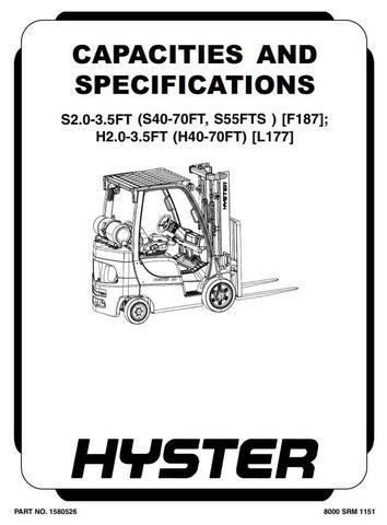 Hyster S40FT, S50FT, S55FTS, S60FT, S70FT Diesel/LPG