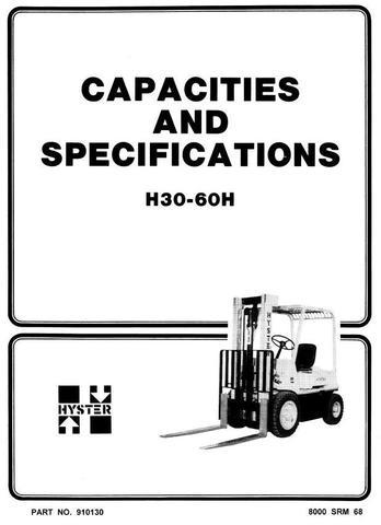 Hyster H30H, H40H, H50H, H60H Diesel and LPG Forklift