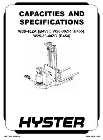 Hyster W20ZR, W25ZC, W30ZA/ZC/ZR, W40ZA, W40ZC Pallet