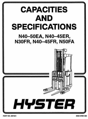 Hyster N30FR Electric Forklift Truck A217 Series Workshop