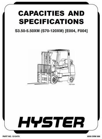 Hyster S70XM, S80XM, S100XM, S120XM(S) Diesel/LPG Forklift