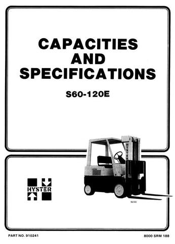 John Deere Hyster S60E, S70E, S80E, S100E, S120E Diesel