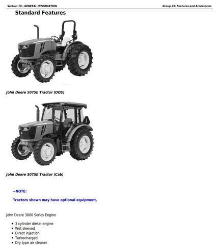 John Deere 5045E, 5055E, 5065E & 5075E (FT4) North America