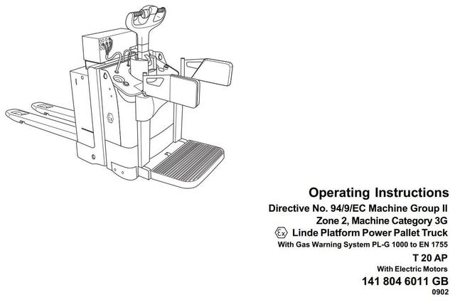 Linde T20AP Explosion Protected Pallet Truck 141 series