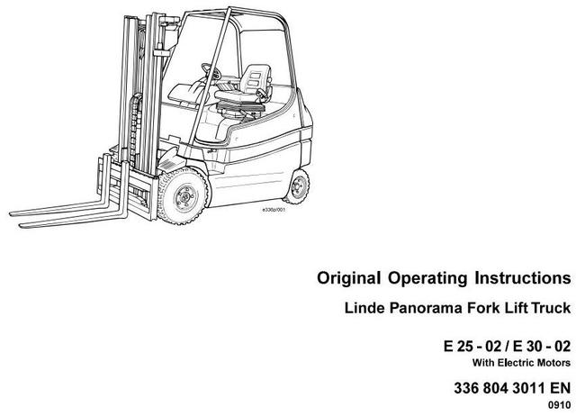 Linde E25, E30 Panorama Forklift Truck 336-02 Series