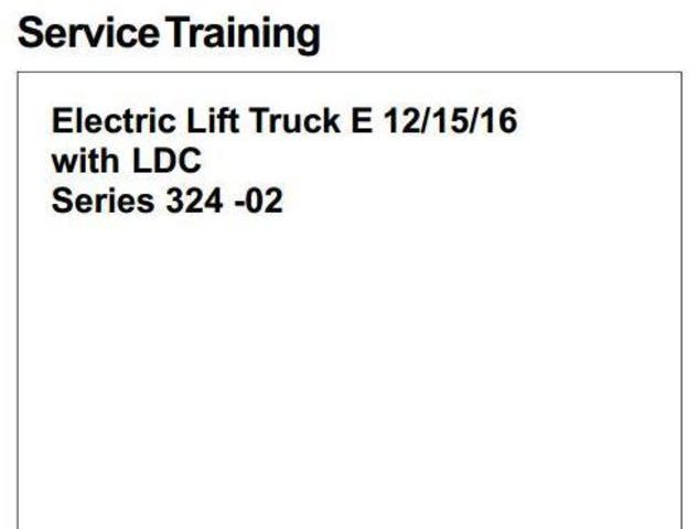 Linde E12, E15, E16 Electric ForkLift Truck 324-02 Series