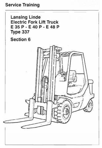 Linde E35P, E40P, E48P Electric Forklift Truck 337 Series