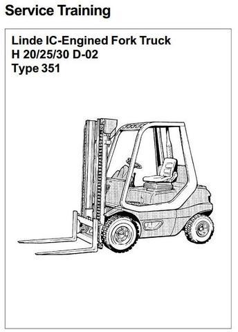 Linde H20D, H25D, H30D Diesel Forklift Truck 351-02 series