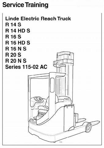 Linde R14, R16, R20 Electric Reach Truck 115-02 Series
