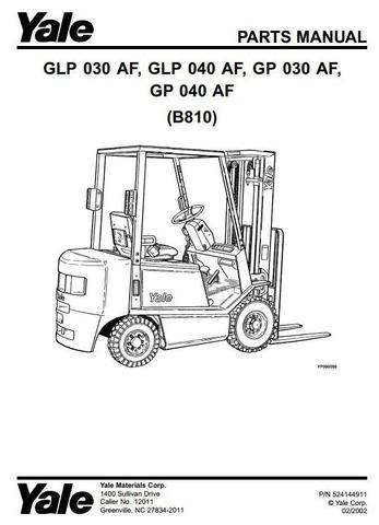 Yale GLP030AF, GLP040AF, GP030AF, GP040AF Gasoline/LPG
