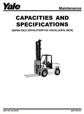 Yale GDP/GLP/GP135CA, GDP/GLP/GP155CA Diesel/LPG USA