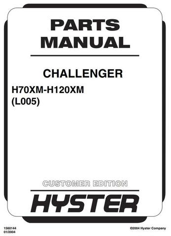 Hyster H70XM, H80XM, H90XM, H100XM, H110XM, H120XM