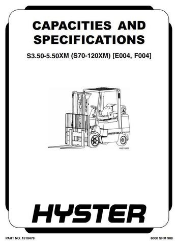 Hyster S70XM, S80XM, S100XM, S120XM(S,BCS) Diesel/LPG