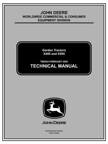 John Deere X495, X595 Lawn and Garden Tractors Diagnostic