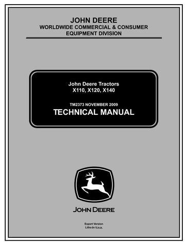John Deere X110, X120, X140 Lawn Tractors (EXPORT