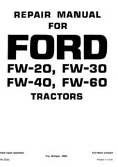 Ford Tractors Service Repair Workshop Manual / Truck