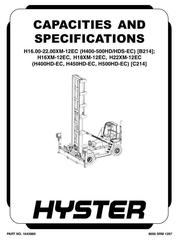Hyster Container Handler Service Maintenance Repair