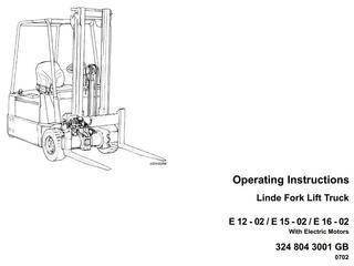Linde Electric Forklift Truck Service, Maintenance