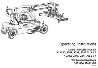 Linde Container Handler Service, Maintenance, Operating
