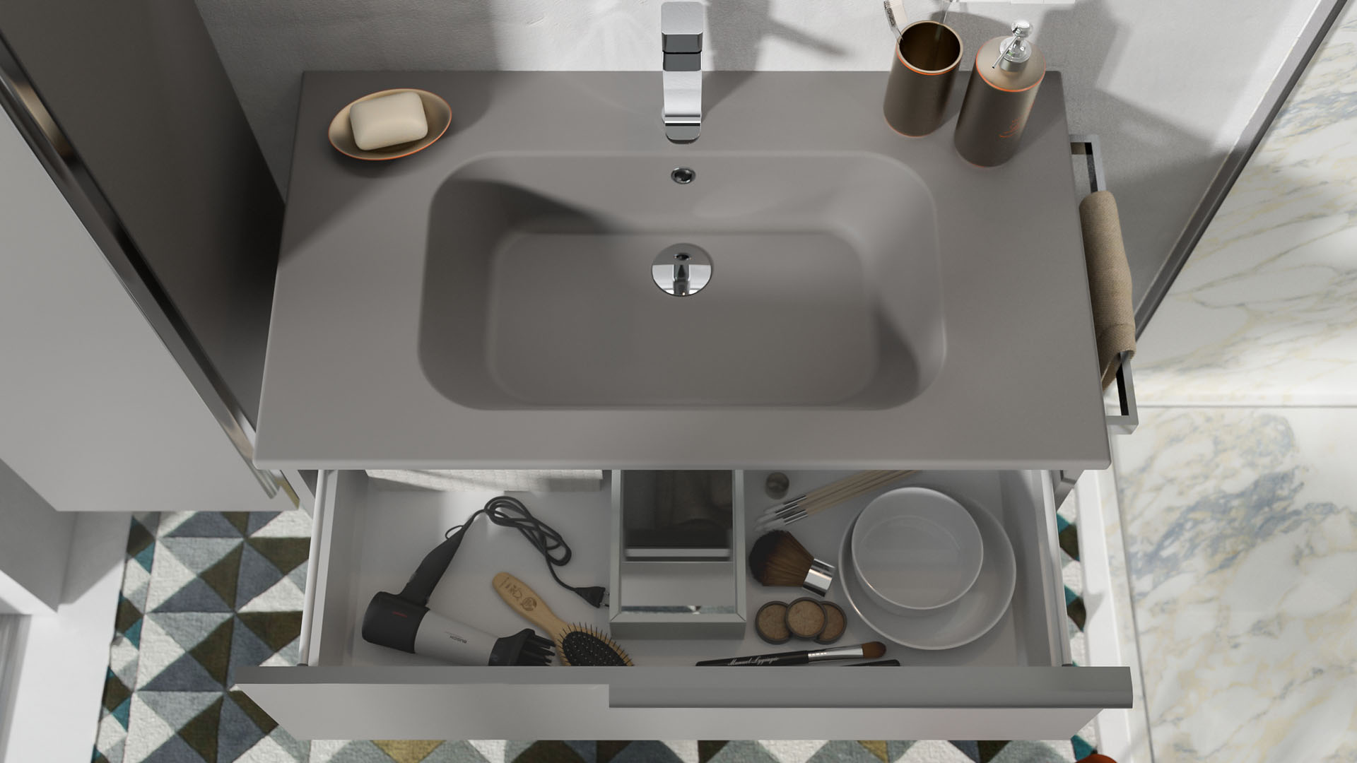 Materiali per il lavabo del bagno come scegliere quello