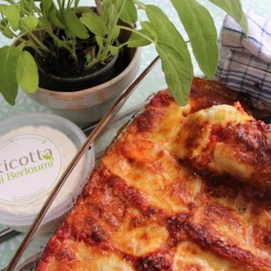cannelloni, berloumi, spinazie